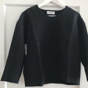 Everlane black boxy sweater